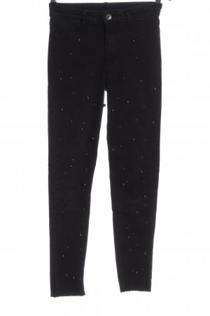 Calzedonia Hoge taille jeans zwart casual uitstraling