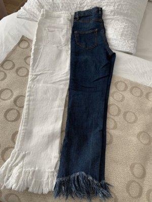 Calzedonia Jeans a 3/4 bianco-blu