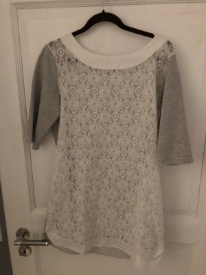 Calzedonia Blouse Dress grey-white