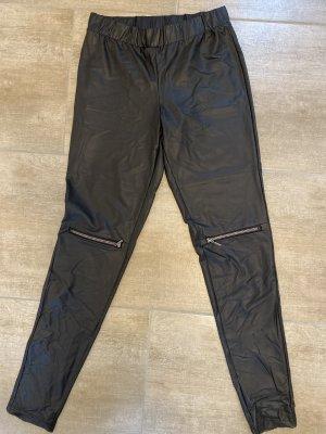 Calzedonia Kunstleder legging mit Reißverschluss am Knie