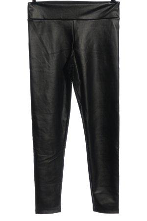 Calzedonia Pantalon en simili noir style décontracté