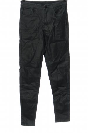 Calzedonia Faux Leather Trousers black casual look