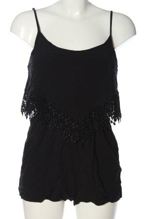 Calzedonia Kurzer Jumpsuit noir style décontracté