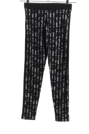 Calzedonia Leggings schwarz-weiß Webmuster Casual-Look