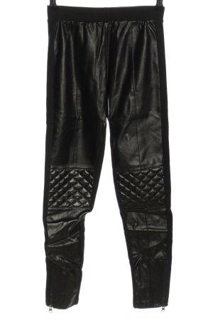 Calzedonia Leggings black quilting pattern wet-look