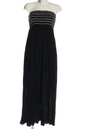 Calzedonia Maxi abito nero-bianco stile casual