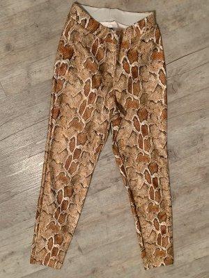 Calzedonia Pants/Skinny - Snake - Cognac/White - Größe XS/S 34/36