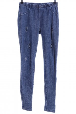 Calzedonia Stretch Jeans blau meliert Casual-Look