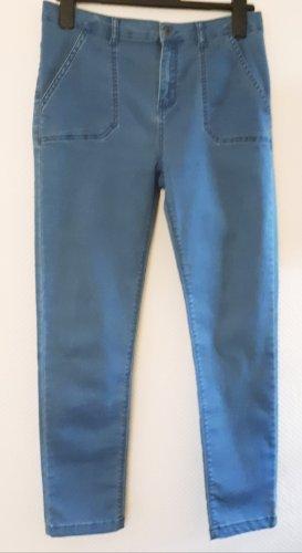 CALZEDONIA Stretch-Jeans hellblau, Casual-Look Gr. M, VERSANDKOSTENFREI
