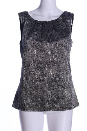 Camaieu ärmellose Bluse hellgrau-schwarz meliert Elegant