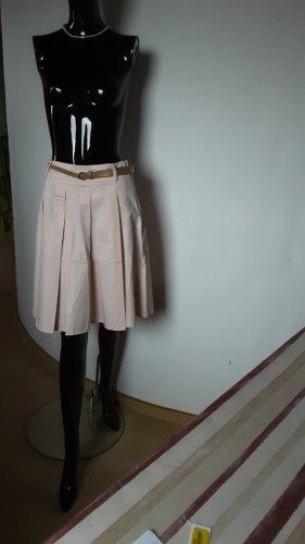 Camaieu Plaid Skirt apricot cotton