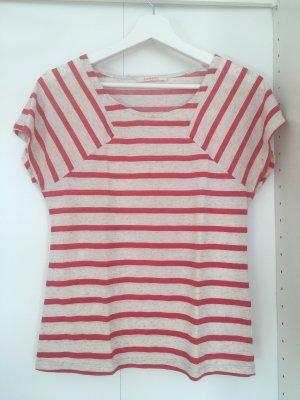 Camaieu T-shirt biały-czerwony