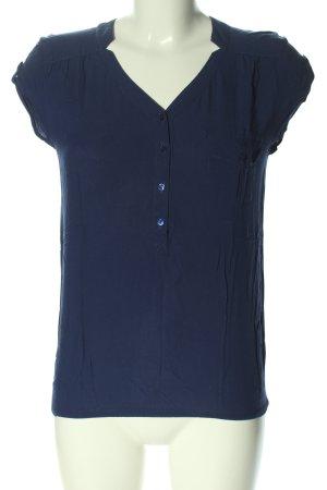 Camaieu Short Sleeved Blouse blue business style