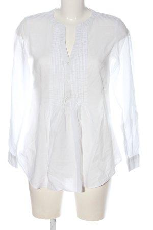 Camaieu Langarm-Bluse weiß Casual-Look