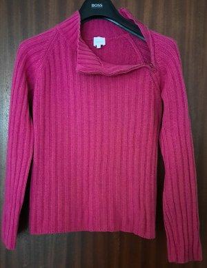 Camaieu Wełniany sweter różowy neonowy Wełna