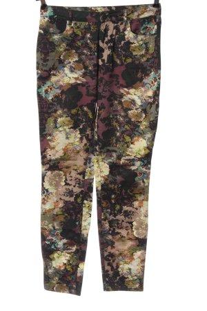 Camaieu Spodnie materiałowe Abstrakcyjny wzór W stylu casual