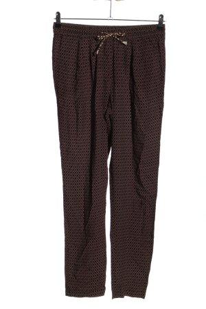 Camaieu Spodnie ze stretchu czerwony-czarny Na całej powierzchni W stylu casual