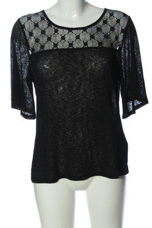 Camaieu Blusa trasparente nero stile classico