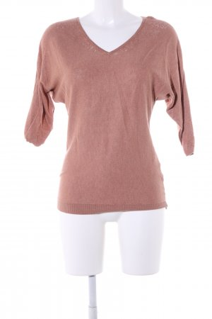 Camaieu V-Ausschnitt-Pullover nude Casual-Look