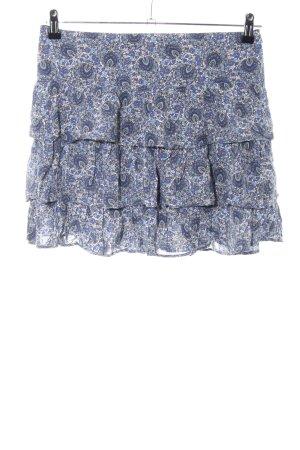 Camaieu Falda con volantes estampado con diseño abstracto look casual