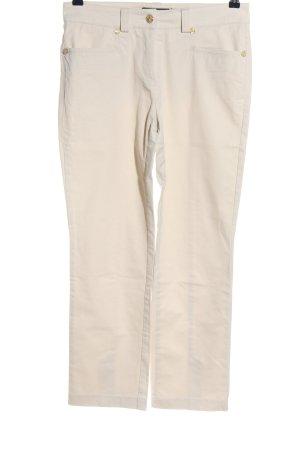 Cambio Pantalon 7/8 blanc cassé style décontracté
