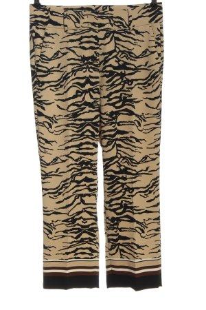 Cambio Luźne spodnie kremowy-czarny Na całej powierzchni W stylu casual