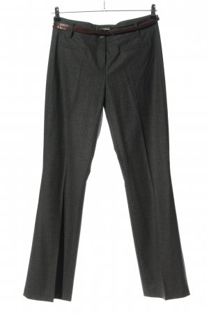 Cambio Pleated Trousers light grey flecked casual look