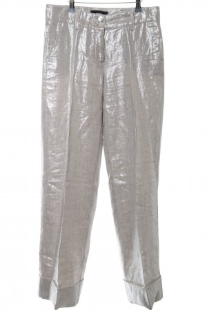 Cambio Pleated Trousers silver-colored extravagant style
