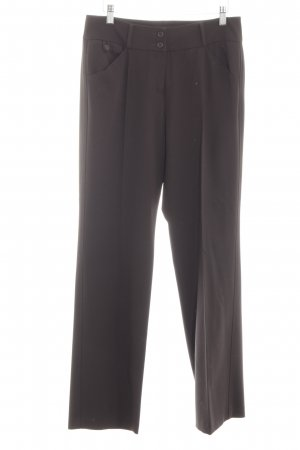 Cambio Pantalon à pinces brun foncé style d'affaires
