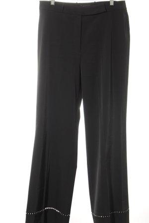 Cambio Bundfaltenhose schwarz Elegant