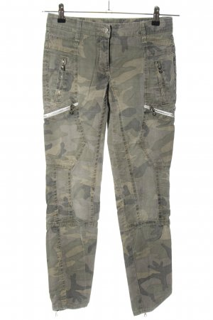 Cambio Cargo Pants light grey camouflage pattern casual look