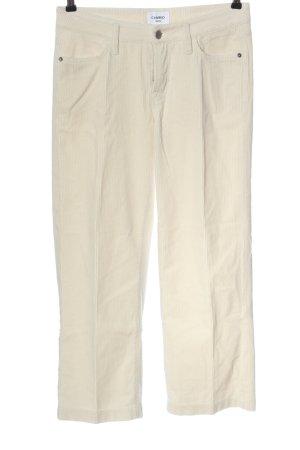 Cambio Corduroy Trousers cream casual look