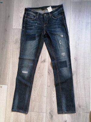Cambio Jeans Jeansy z prostymi nogawkami ciemnoniebieski