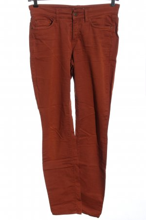 Cambio Pantalon cinq poches brun style décontracté