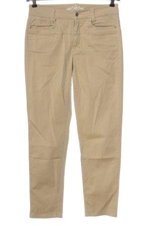 Cambio Pantalon cinq poches crème style décontracté