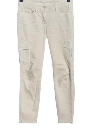 Cambio Pantalon cinq poches blanc cassé style décontracté