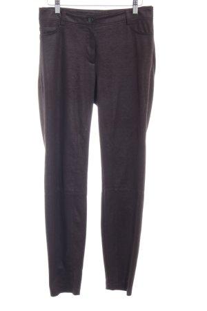 Cambio Pantalon cinq poches brun noir Boutons métalliques