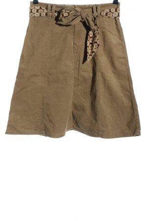 Cambio Flared Skirt brown casual look