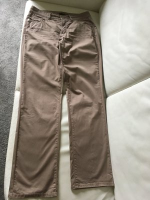 Cambio Pantalon cinq poches chameau-gris brun coton