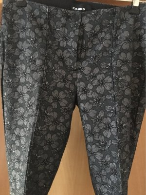 Cambio Jersey Pants black-silver-colored