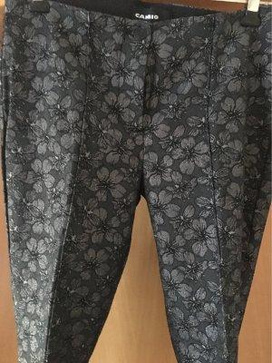 Cambio Pantalon en jersey noir-argenté