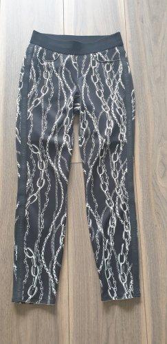 Cambio Pantalone elasticizzato nero-bianco Poliestere