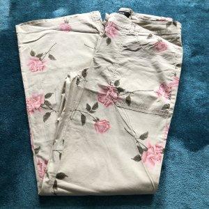 Cambio Pantalon pattes d'éléphant beige clair-rose