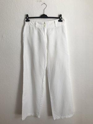 Cambio Lniane spodnie biały