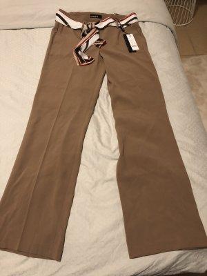 Cambio Pantalone a zampa d'elefante beige-color cammello