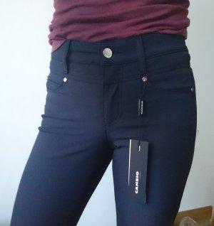 Cambio Jeans Spodnie ze stretchu ciemnoniebieski
