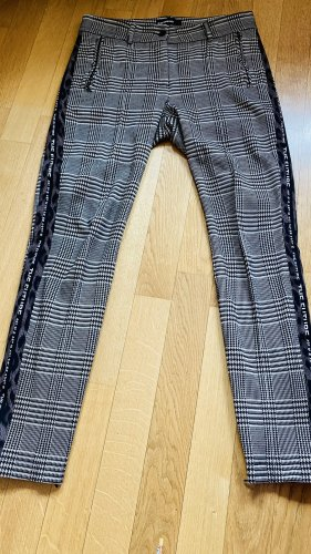 Cambio Pantalon chinos noir-gris brun viscose