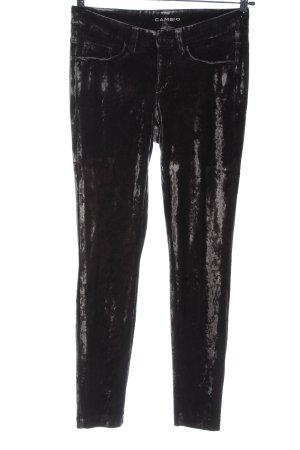 Cambio Pantalon taille basse noir style décontracté