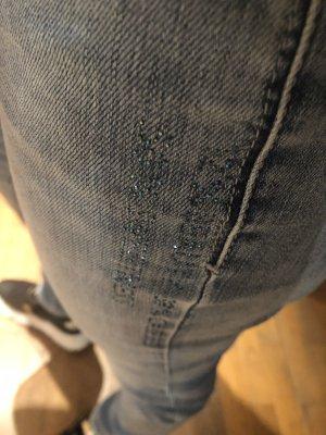Cambio Jeans Jeansy rurki błękitny