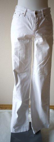 Cambio Straight Leg Jeans white cotton
